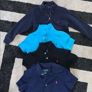 Lot of 4 polo boys tops 4T and 5T